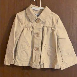 Girls Gap khaki jacket, size medium 8